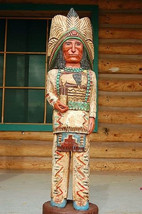 4 Foot CIGAR STORE WOODEN INDIAN Sculpture Indian Chief by Frank Gallagher - $945.00
