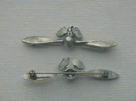 WWII Air Corp Sweetheart Pin Propeller with Eagle Sterling Silver           - $45.00