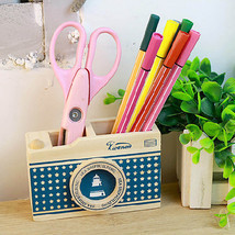 Wooden Camera Pattern Desk Pen Holder Pencil St... - $3.96