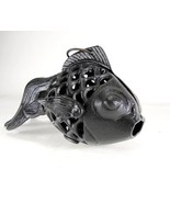 Cast Iron Goldfish Koi Candle Holder in Black - $29.99
