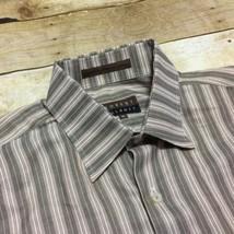 Robert Talbott Beige Brown Striped Men's XL 100% Cotton Long Sleeve Shirt - €15,57 EUR