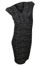 Max Studio Women's Black Grey Marled Textured Knit Dress, S - $58.41