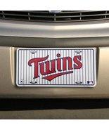 MLB Minnesota Twins White Team Logo Metal Licen... - $4.94