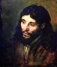 100% Hand Painted Oil on Canvas - A Christ after life by Rembrandt - 30x... - $404.91