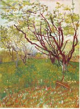 100% Hand Painted Oil on Canvas - Cherry Tree by Van Gogh - 30x40 Inch - $404.91