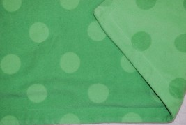 "Amy Coe Baby Blanket GREEN Large Polka Dot Fleece - Boy or Girl - 40"" x 30"" - $25.38 CAD"