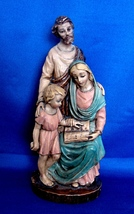 "9"" Holy Family Statue of Joseph,  Jesus, Mary Mother Hand Painted - $24.99"