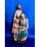 """9"""" Holy Family Statue of Joseph,  Jesus, Mary Mother Hand Painted - $24.99"""