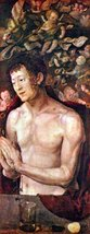 100% Hand Painted Oil on Canvas - St. Sebastian by Durer - 30x40 Inch - $404.91