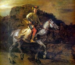 100% Hand Painted Oil on Canvas - The Polish Rider by Rembrandt - 20x24 ... - $226.71