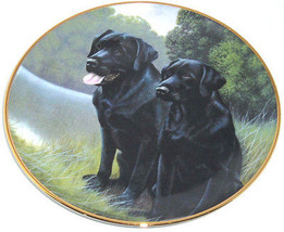 Black Labrador Lab Retriever Collector Plate Sporting Companions Frankli... - $59.95