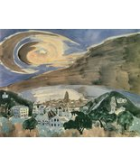 100% Hand Painted Oil on Canvas - Moon over Barcelona by Walter Gramatte... - $315.81