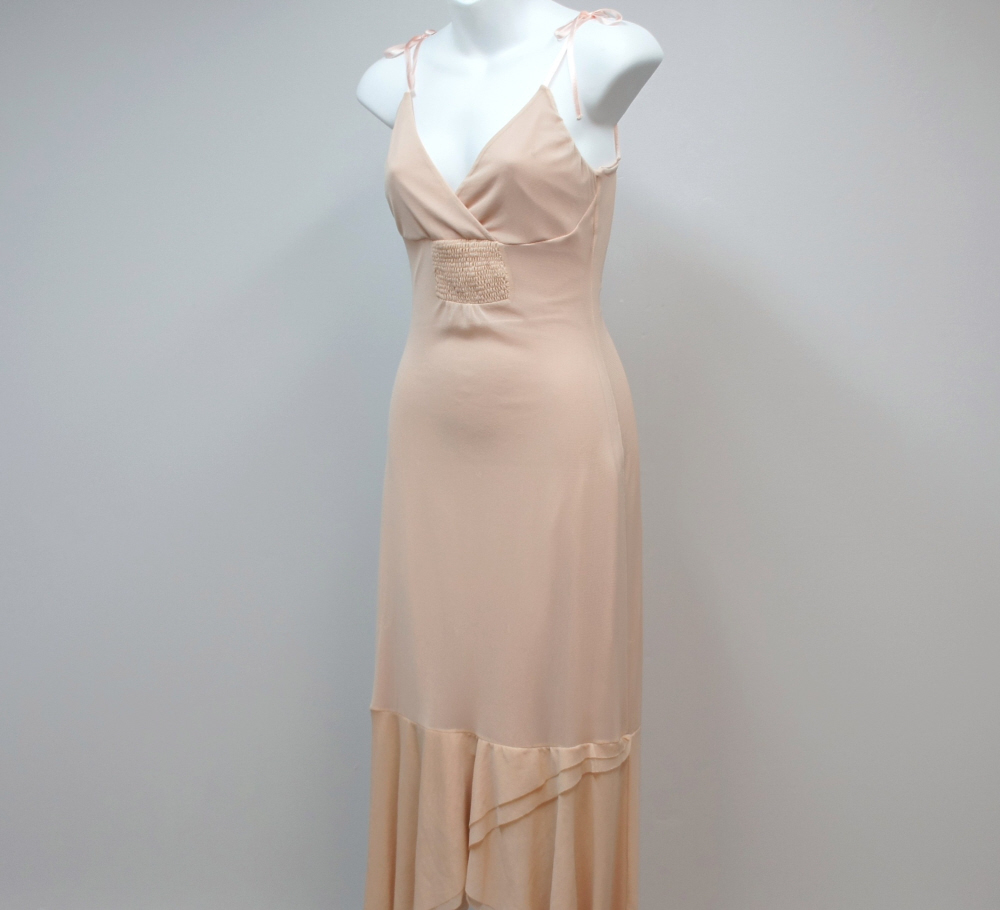 H & M Bohemian Dress Flesh Tone Sexy Prom Size XS