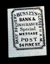 HUSSEY'S  Sc# 87L47, 2 CENT DELIVERY BANK & INSURANCE SPECIAL MESSAGE PO... - $19.99