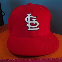 ST LOUIS CARDINALS NEW ERA 59FIFTY HAT 2007FITTED 6 3/4  BLACK  BOTTOM.(DD) image 1