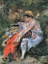 100% Hand Painted Oil on Canvas - After the Bath by Lovis Corinth - 24x3... - $315.81