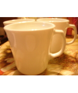 """Corelle Winter White Mugs/Cups (3) with """"D"""" shape handle GUC - $20.00"""