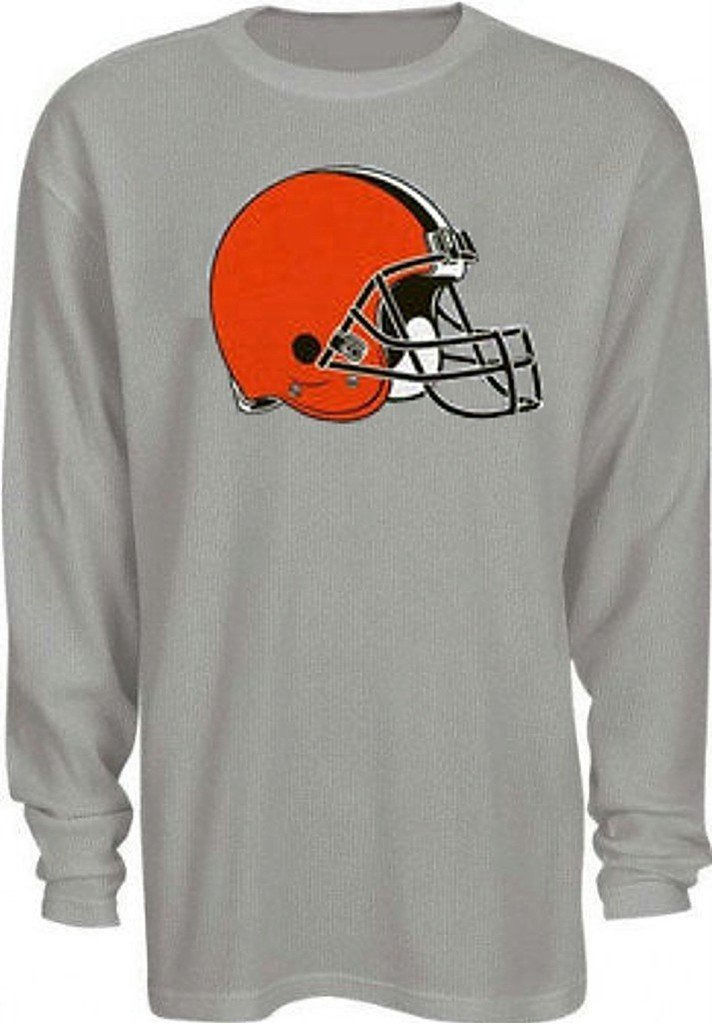 Cleveland Browns Shirt Men's Classic Thermal Long Sleeve NFL Big Sizes