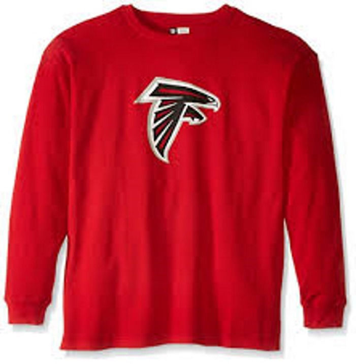 Atlanta Falcons Shirt Men's Classic Thermal Long Sleeve NFL Big Sizes
