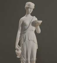 Goddess of Youth Hebe- Juventus serving Nectar Statue Figure Sculpture 9... - $28.81