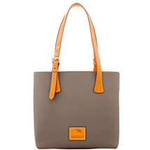 Dooney & Bourke Patterson Taupe Leather Emily M... - $469.99