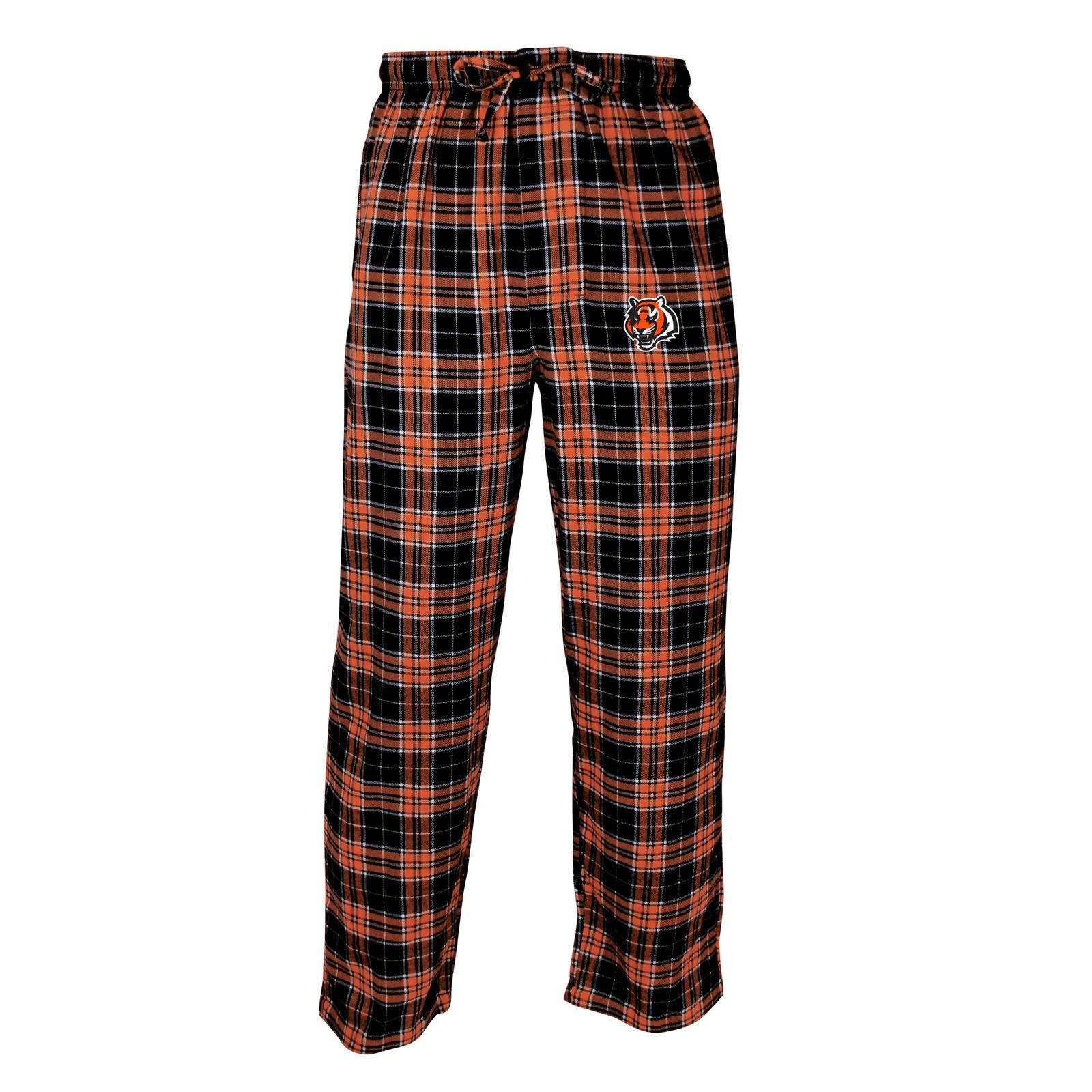 Cincinnati Bengals Pajama Pants Men's NFL Roster Flannel Sleep Lounge Bottoms