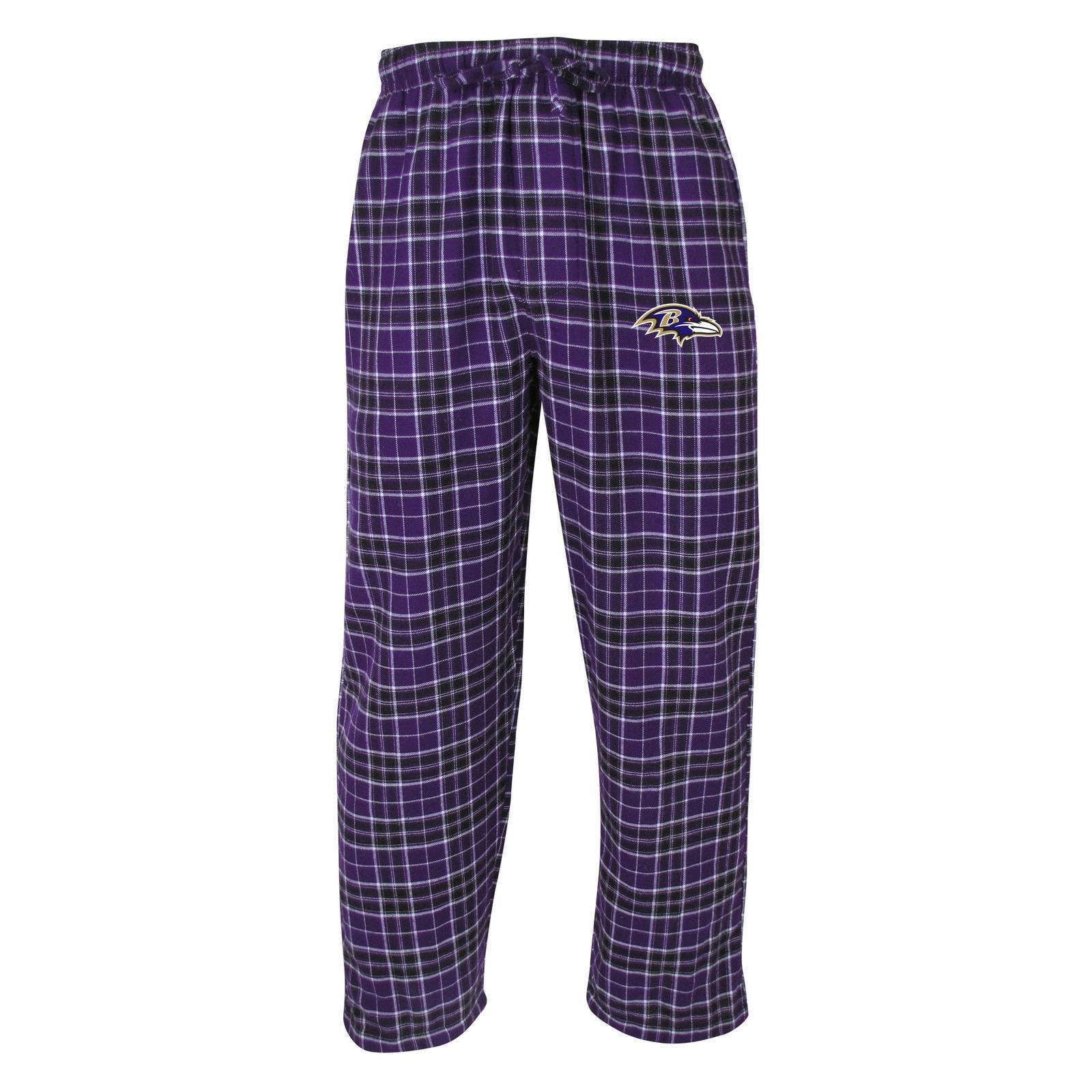 Baltimore Ravens Pajama Pants Men's NFL Roster Flannel Sleep Lounge Bottoms