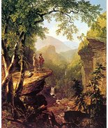100% Hand Painted Oil on Canvas - Kindred spirits by Asher Brown Durand ... - $404.91