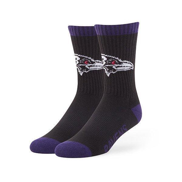 Baltimore Ravens Men's Socks NFL Bolt Moisture Wicking Large 9-13