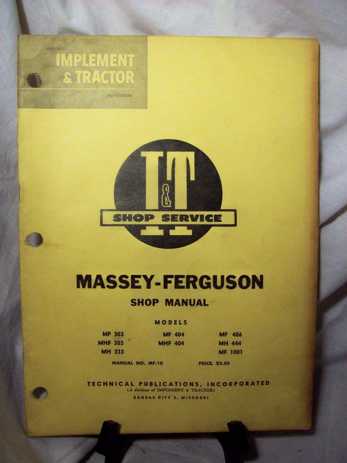 I & T Shop Service Massey-Ferguson Manual and similar items