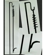 """Custom Length 31""-36"" Outdoor Fire Poker & Hanger,Made in US by Blacksmith - $27.72"