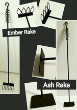 """Wood Stove/Fireplace Set, Ember & Ash Rake 36"""", Made in US by a Blacksmith - $51.48"""