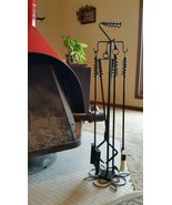 Wood Stove/Fireplace 4 Implements and Stand, Custom Length, Made by Blac... - $113.85