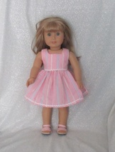 Pink Stripe Sun Dress w/pink sandals for the Am... - $15.00