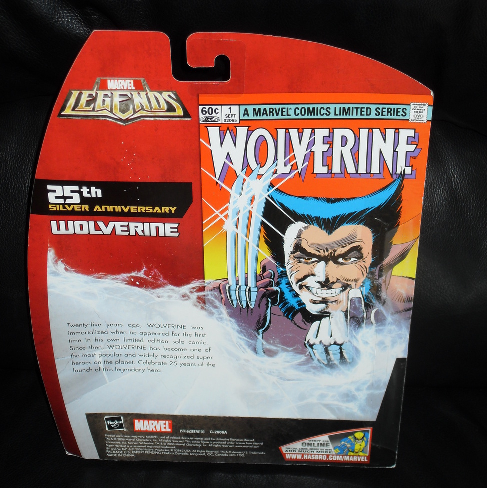 2006 Marvel Legends Wolverine 25th Silver Anniversary Figure Toys R Us Exclusive