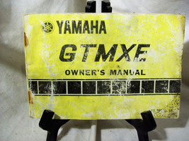 Yamaha GTMXE Owner's Manual - $9.74