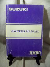 Suzuki RM80 Owner's Manual - $9.70