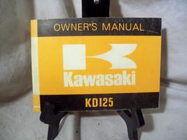Kawasaki KD125 Motorcycle Owner's Manual - $18.81