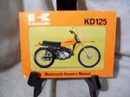 Kawasaki KD125 Motorcycle Owner's Manual - $19.19