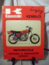 Kawasaki KZ400-C1 Motorcycle Assembly & Preparation Manual - $8.79