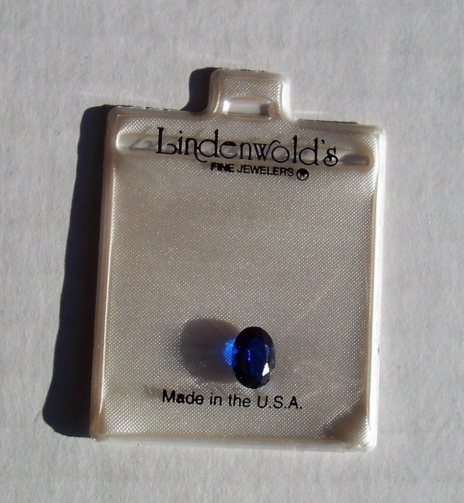 Lindenwold's Fine Jewelrs Oval  Blue Sapphire Loose Gemstone Simulated