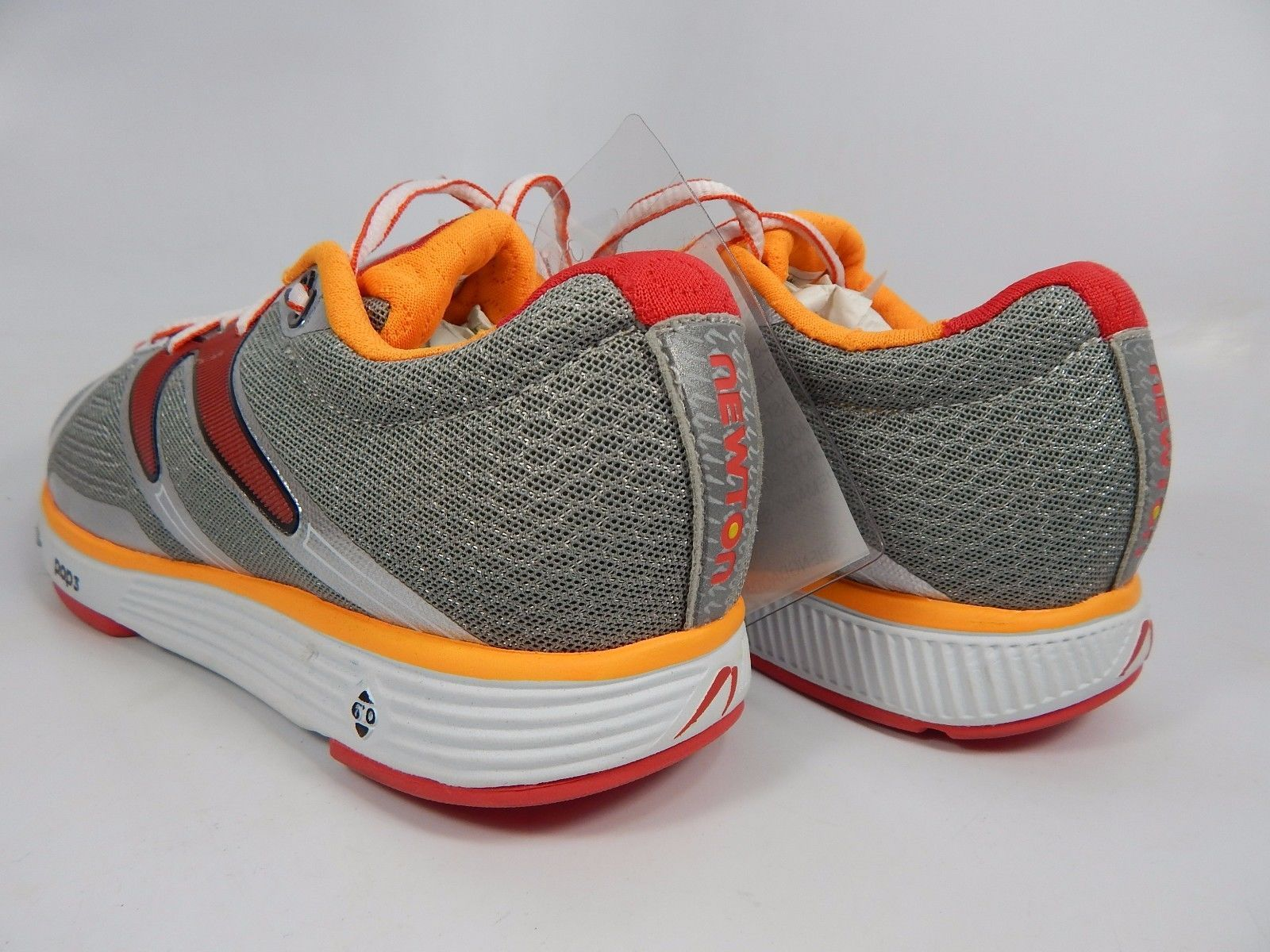 Newton OH - YA Women's Running Shoes Size US 7 M (B) EU 38 Silver Red Orange