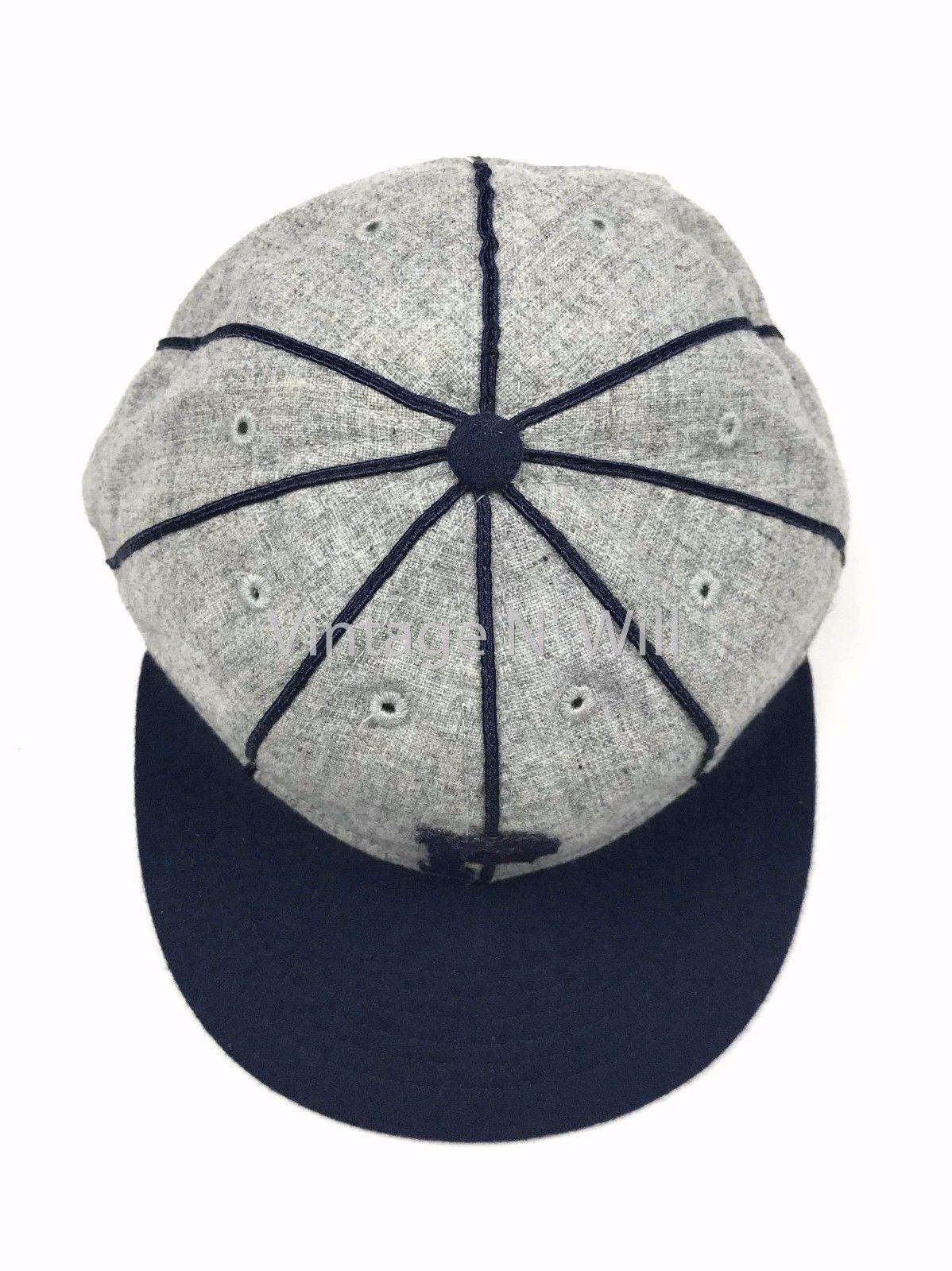 c48f1155e2264 Ebbets Field Flannel Portland Beavers Blue  Gray Retro Wool Baseball Hat  Cap USA