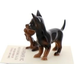 Hagen-Renaker Miniature Ceramic Dog Figurine Chihuahua Mama and Tiny Pup Black image 2