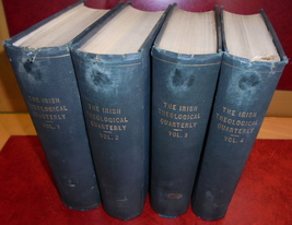 Irish Theological Quarterly 4vols Bound 1907-09 Catholic Religion Bible ... - $100.00