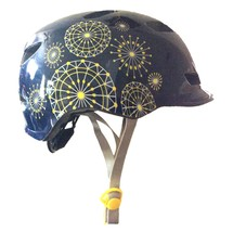 Schwinn Adjustable Fit Shoreline Yellow/White Dot Wheel Starburst Navy Helmet... - $21.81