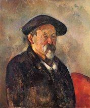 100% Hand Painted Oil on Canvas - Self Portrait with Beret by Cezanne - ... - $315.81