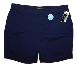 Lee Woman's Size 24W Navy Blue Relax Fit Bermuda Shorts NEW $46 - $28.00