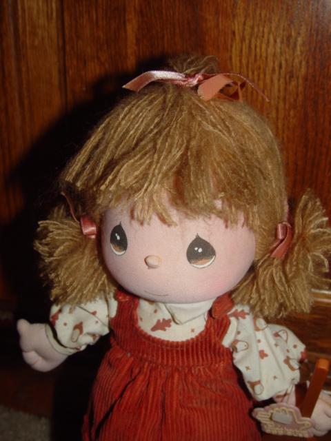 Precious Moments1988 Samuel J Butcher Fiber Doll Play Music 16512 Rag Like Doll