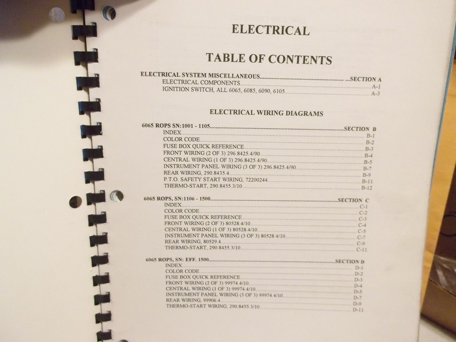 White Agco 6000 Series Tractor Electrical And Similar Items Ford Wiring Diagram Service Training Manual
